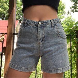 Vintage high waist denim dad/mom shorts